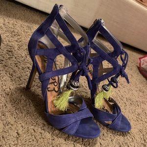 Size 9 Sam Edelman blue suede heels